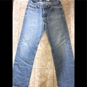 Diesel Industry Button Fly Distressed Jeans Sz 31